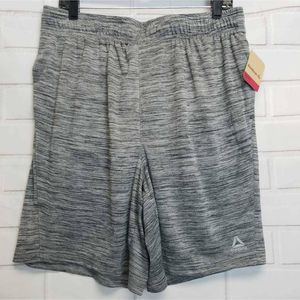 NWT Reebok Mens Cruz Training Shorts Gray Black L